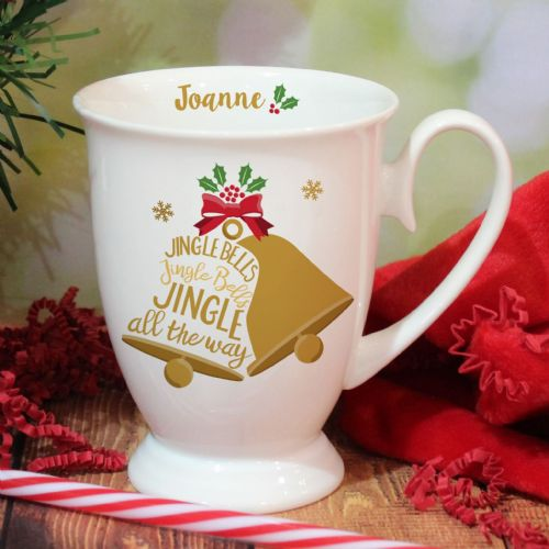 Personalised Jingle Bells Marquee Mug